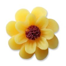 18mm Yellow Daisy Resin Flatback Cabochons